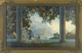 Prints:American, MAXFIELD PARRISH (American 1870 - 1966). Daybreak, 1923.Period print on paper (House of Art, N.Y.). 30.25 x 18in. (imag...