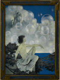 Prints:American, MAXFIELD PARRISH (American 1870 - 1966). Air Castles, 1904. Periodprint on paper. 12 x 16in.. ...