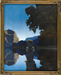 Prints:American, MAXFIELD PARRISH (American 1870 - 1966). Evening, 1927.Period print on paper (Reinthal & Newman, N.Y.). 14.75 x 12in.(...