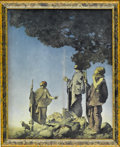 Prints:American, MAXFIELD PARRISH (American 1870 - 1966). The Three Shepards(or Christmas), 1904. Period print on paper (P.F. Collier & ...