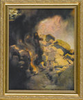 Prints:American, MAXFIELD PARRISH (American 1870 - 1966). Aladdin And TheWonderful Lamp, 1907. From The Arabian Nights. Periodprint...