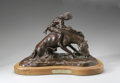 Sculpture, DR. ROBERT TAYLOR (American Late 20th). River Breakin', 1977. Bronze on wood base (House Bronze). 9 x 15.5 x 8in.. Numbe...