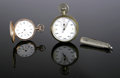 Timepieces:Pocket (post 1900), TWO POCKET WATCHES AND ONE POCKET KNIFE. Various makers, TwentiethCentury. The first, a Booklyn Watch Company pocket ...(Total: 2 Items)