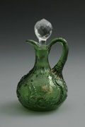 Art Glass:Other , AN AMERICAN LOUIS XV PATTERN GLASS CRUET. Northwood, c.1920. Thebulbous form with molded handle and faceted clear stoppe...