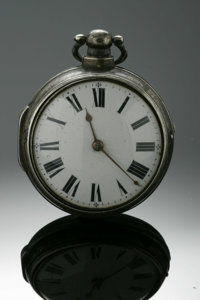 AN ENGLISH SILVER POCKETWATCH Liverpool, England  The Bullingford Liverpool pocketwatch with case intact, watch with