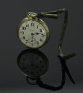 Clocks & Mechanical, A SWISS POCKET WATCH. Hamilton Watch Co., Lancaster, Pa. The Hamilton pocket watch with white dial, movements marked ... (Total: 1 Item Item)