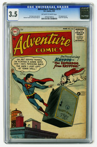 Adventure Comics #210 (DC, 1955) CGC VG- 3.5 Off-white to white pages. First appearance of Krypto the Superdog. Curt Swa...