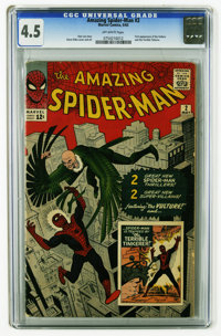 The Amazing Spider-Man #2 (Marvel, 1963) CGC VG+ 4.5 Off-white pages. Spidey's second issue features the first appearanc...