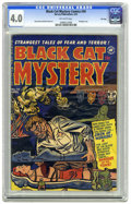 Golden Age (1938-1955):Horror, Black Cat Mystery #34 File Copy (Harvey, 1952) CGC VG 4.0 Off-whitepages. Bondage cover. Rudy Palais and Bob Powell art. Ov...