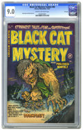 Golden Age (1938-1955):Horror, Black Cat Mystery #40 File Copy (Harvey, 1952) CGC VF/NM 9.0 Creamto off-white pages. Tied with one other copy for highest-...