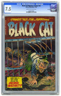Golden Age (1938-1955):Horror, Black Cat Mystery #52 File Copy (Harvey, 1954) CGC VF- 7.5 Cream tooff-white pages. Bob Powell and Joe Certa art.The conten...