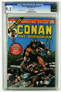 Bronze Age (1970-1979):Miscellaneous, Conan the Barbarian Annual #1 (Marvel, 1973) CGC NM- 9.2 Off-whitepages. Barry Windsor-Smith cover and art. Overstreet 2005...