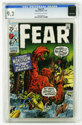 Bronze Age (1970-1979):Horror, Fear #1 (Marvel, 1970) CGC NM- 9.2. Jack Kirby cover. Kirby, DonHeck, and Steve Ditko art. Overstreet 2005 NM- 9.2 value = ...