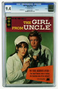 Silver Age (1956-1969):Adventure, The Girl From U.N.C.L.E. #1 File Copy (Gold Key, 1967) CGC NM 9.4 Off-white pages. Stephanie Powers front and back photo cov...