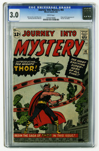 Journey Into Mystery #83 (Marvel, 1962) CGC GD/VG 3.0 White pages. Origin and first appearance of Thor (Dr. Don Blake)...