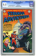 Golden Age (1938-1955):Science Fiction, Strange Adventures #11 (DC, 1951) CGC VF+ 8.5 White pages. BobOksner cover. Carmine Infantino, Jim Mooney, Gil Kane, and Mu...