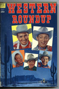 Golden Age (1938-1955):Miscellaneous, Dell Giant Comics - Western Roundup #5-8 Bound Volume (Dell, 1954). Western Publishing file copies of Western Roundup #5...