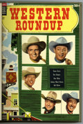 Golden Age (1938-1955):Miscellaneous, Dell Giant Comics - Western Roundup #9-12 Bound Volume (Dell, 1955). These are Western Publishing file copies that have been...