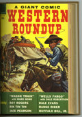 Silver Age (1956-1969):Miscellaneous, Dell Giant Comics - Western Roundup #21-25 Bound Volume (Dell,1958-59). Western Publishing file copies of Western Roundup...