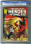 "Magazines:Miscellaneous, Deadliest Heroes of Kung Fu, The #1 (Marvel, 1975) CGC VF- 7.5White pages. ""Enter the Dragon"" filmbook, pin-up, and photos...."