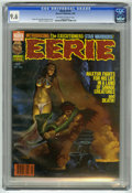 Magazines:Horror, Eerie #114 (Warren, 1980) CGC NM+ 9.6 Off-white to white pages.Manuel Sanjulian cover. Victor de la Fuente stories and art....