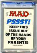 """Magazines:Mad, Mad #195 Gaines File pedigree (EC, 1977) CGC NM 9.4 Off-white towhite pages. """"Airport 1977,"""" """"Black Sunday,"""" and """"Barney Mi..."""