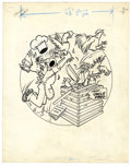 Original Comic Art:Covers, Paul Fung Jr. (attributed) - Dagwood #18 Cover Original Art(Harvey, 1952). Dagwood's gift from Uncle Fred is really going t...