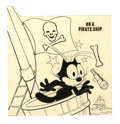 Original Comic Art:Covers, Joe Oriolo - Felix the Cat Cover Original Art (Harvey, undated).The Jolly Roger ain't so jolly for poor Felix, in this cove...