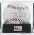 Autographs:Baseballs, Tony Perez Single Signed Baseball, PSA Gem Mint 10. Tony Perez,whose years with the Big Red Machine in Cincinnati earned h...