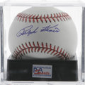 Autographs:Baseballs, Ralph Kiner Single Signed Baseball, PSA Mint+ 9.5. Kiner, the HOFoutfielder who struck fear into the hearts of pitchers of...