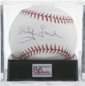Autographs:Baseballs, Whitey Ford Single Signed Baseball, PSA Mint+ 9.5. Perhaps thegreatest pitcher ever to suit up in pinstripes. Ball has bee...