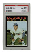 Baseball Cards:Singles (1970-Now), 1971 Topps Steve Garvey #341 PSA NM-MT 8. Offered here is a '71Topps Steve Garvey rookie, the 10-time All-Star and 1974 MV...