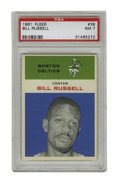 Basketball Cards:Singles (Pre-1970), 1961 Fleer Bill Russell #38 PSA NM 7. Offered here is a NM example Bill Russell card from the classic '61 Fleer issue. Rus...