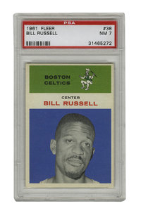 1961 Fleer Bill Russell #38 PSA NM 7. Offered here is a NM example Bill Russell card from the classic '61 Fleer issue. R...
