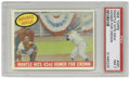 Baseball Cards:Singles (1950-1959), 1959 Topps Mantle Hits 42nd Homer For Crown #461 PSA NM 7. This card highlights the home run race of 1958 between the Mick ...