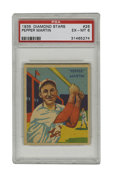 Baseball Cards:Singles (1930-1939), 1934-36 Diamond Stars Pepper Martin #26 PSA EX-MT 6. Martin, one ofthe integral members of St. Louis' Gashouse Gang, is re...
