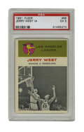 Basketball Cards:Singles (Pre-1970), 1961 Fleer Jerry West In Action #66 PSA EX 5. From the man whosesilhouette provides the basis for the NBA's logo we offer ...