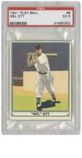 Baseball Cards:Singles (1940-1949), 1941 Play Ball Mel Ott #8 PSA EX 5. The New York Giants hero whobelted 511 homers over the course of his 22-year HOF caree...