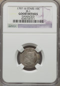 Early Dimes, 1797 10C 16 Stars, JR-1, R.4, -- Damaged -- NGC Details. Good. NGCCensus: (0/19). PCGS Population (0/3). Mintage: 25,261. ...