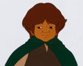 Animation Art:Production Cel, The Lord of the Rings Samwise Production Cel (Ralph Bakshi, 1978). ...