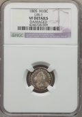 Early Half Dimes, 1805 H10C V-1, LM-1, R.4, -- Damaged -- NGC Details. VF. NGCCensus: (0/20). PCGS Population (0/1). Mintage: 15,600. ...