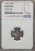 Early Half Dimes: , 1795 H10C -- Damaged -- NGC Details. VF. NGC Census: (6/286). PCGSPopulation (28/452). Mintage: 78,600. Numismedia Wsl. Pr...