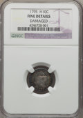 Early Half Dimes: , 1795 H10C -- Damaged -- NGC Details. Fine. NGC Census: (10/298).PCGS Population (15/513). Mintage: 78,600. Numismedia Wsl....