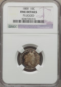 Early Dimes: , 1800 10C -- Plugged -- NGC Details. Fine. NGC Census: (0/32). PCGSPopulation (4/55). Mintage: 21,760. Numismedia Wsl. Pric...