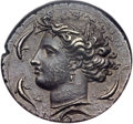 Ancients:Greek, Ancients: SICILY. Syracuse. Time of Dionysius I (405-367 BC). AR decadrachm (36mm, 42.80 gm, 7h)....