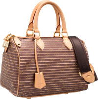 Louis Vuitton Limited Edition Peche Monogram Leather & Canvas Eden Speedy 30 Bandouliere Bag Very Good to Excel