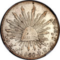Mexico, Mexico: Republic 8 Reales 1860 Pi-PS/FE AU Details (SurfaceHairlines) NGC,...