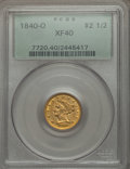 Liberty Quarter Eagles, 1840-O $2 1/2 XF40 PCGS. Variety 1....