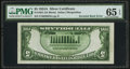 Error Notes:Inverted Reverses, Fr. 1651 $5 1934A Silver Certificate. PMG Gem Uncirculated 65 EPQ.....