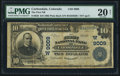 National Bank Notes:Colorado, Carbondale, CO - $10 1902 Plain Back Fr. 626 The First NB Ch. #(W)9009. ...